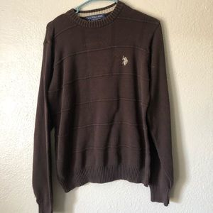 Brown sweater polo